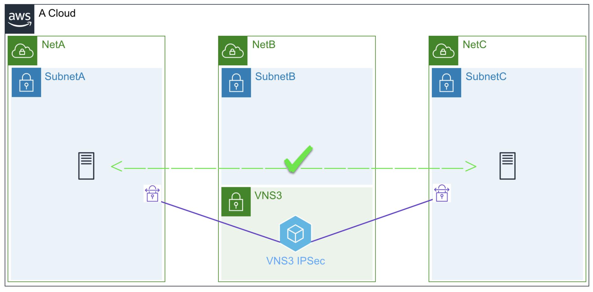 VNS3 Transit Ipsec deployment