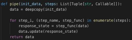 Python Pipe Code