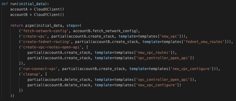Python run function awsync pipe